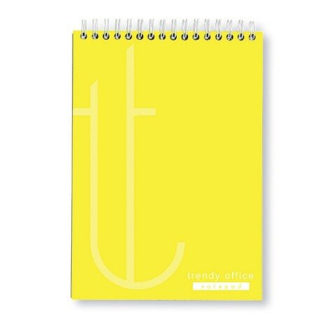 Blocnotes Trendy Yellow, cu spira, A4, 70 file, matematica